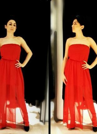 Шикарное платье в пол stradivarius