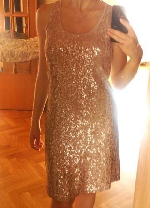 Французское платье-майка в паетках
