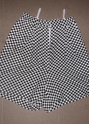 Шорты юбка с высокой посадкой