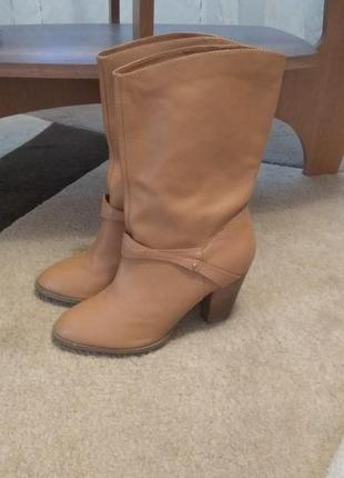 Кожаные сапоги,h&m, 40 размер