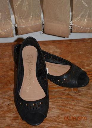 Балетки с открытым носком f&f 24 см