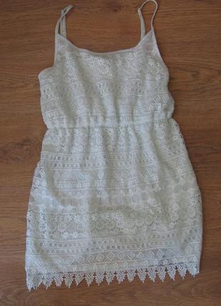 Кружевное платье h&m3