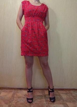 Летнее платье с карманами