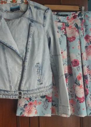 Джинсовая куртка - косуха с премиальной коллекции zara