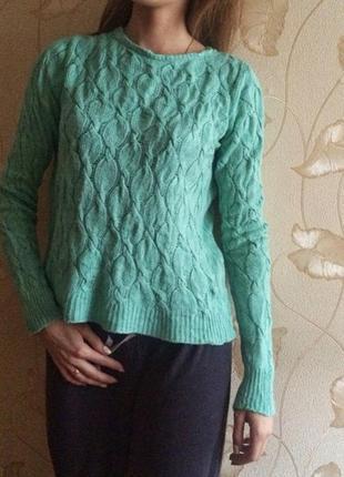 Мятный вязаный свитер forever 21