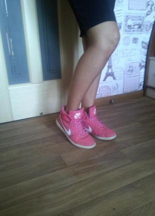 Ботинки кроссовки на меху найк