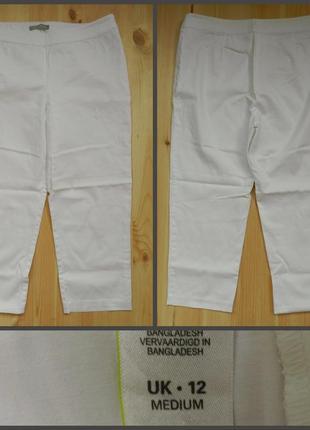 Новые женские котоновые бриджи белого цвета m&s 12 размер.