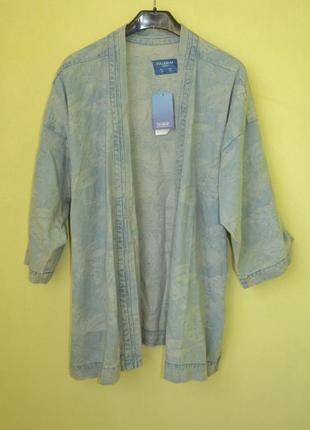 Новая джинсовая куртка, кимоно свободного кроя от pull&bear