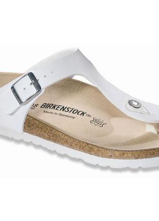 Вьетнамки кожаные ортопедические шлепанци сандали birkenstock  81692