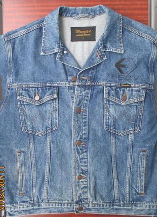 Джинсовая куртка wrangler xl как новая