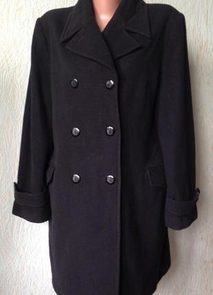 Классическое двубортное пальто *next* 65% шерсти - 14 р.