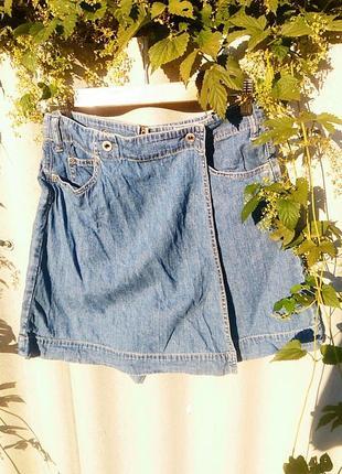 Джинсова юбка-шорти