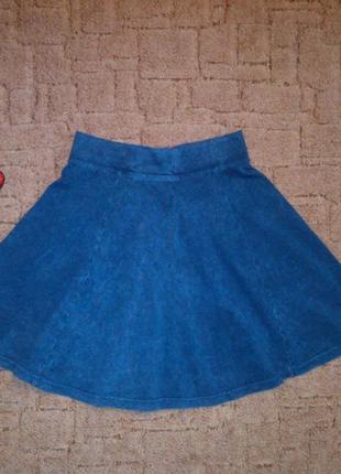 Юбка-солнце h&m, юбка-скейтер, юбка под джинс, коттоновая юбка