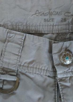 Летние длинные шорты cons в стиле кэжуал
