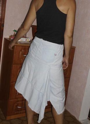Новая джинсовая  асимметричная юбка