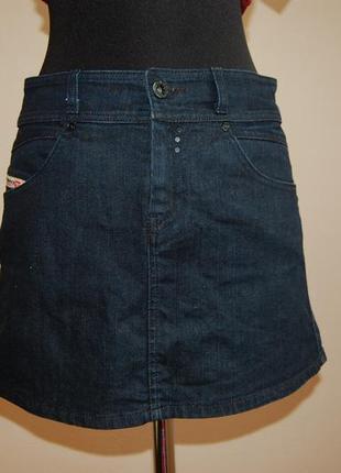 Джинсовая юбка diesel темно-синяя