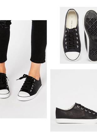 Черные кеды new look
