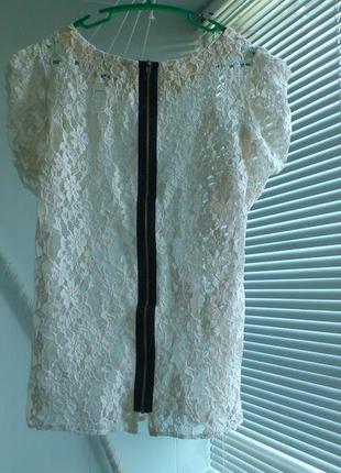 Ажурная блуза topshop