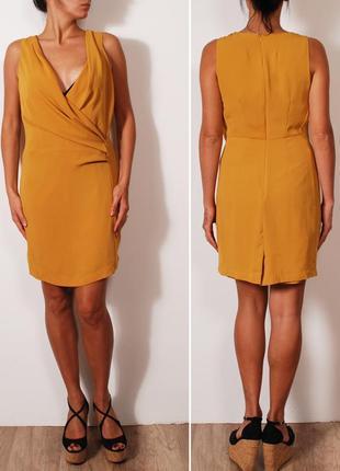 Экстравагантное желтое платье