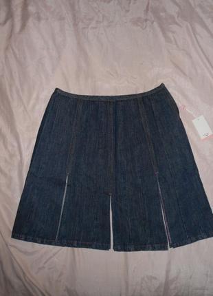 Распродажа ассортимента!!! крутющая джинсовая юбка paul smith, р.европ.46, l-ка, наш 52