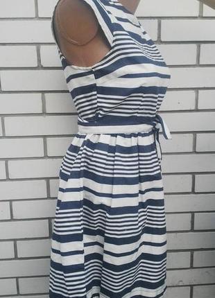 Джинсовое платье в полосочку хлопок