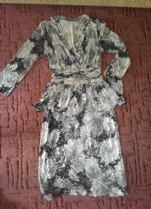 Очень красивое платье с баской