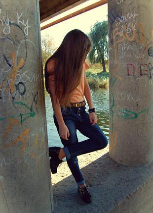 Возможен торг!!! стильные джинсы бойфренд
