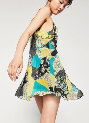 Короткое легкое платье от zara