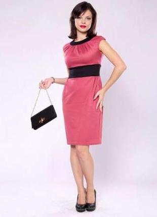 Платье розовое трикотажное laura bettini