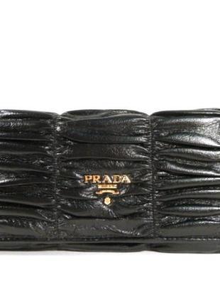 Кожаный кошелек prada 164 черный, расцветки в наличии