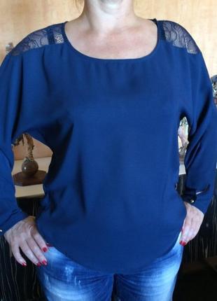 Супернарядная блузка с кружевными вставками