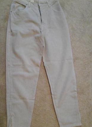 Стильні якісні бельгійські джинси з повишеною талією і  замочком внизу