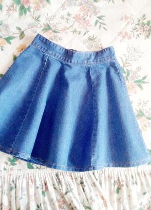 Джинсовая юбка солнце