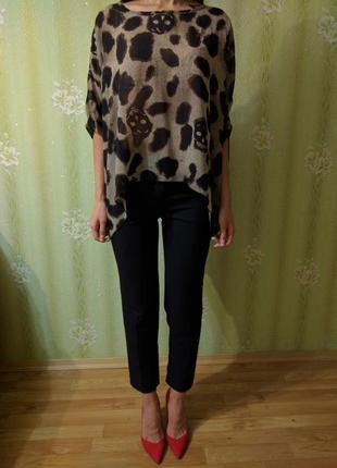 Блуза в черепки miss moda