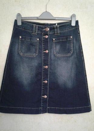 Юбка джинсовая трапеция размер 30,only
