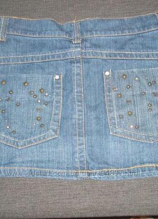 Стильная джинсовая юбка.