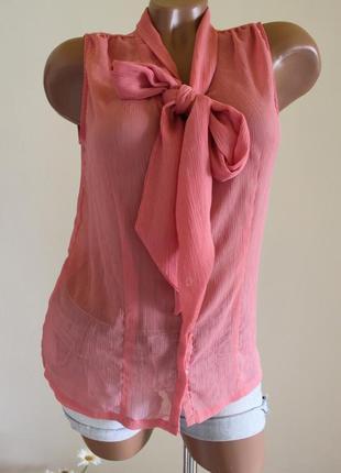 Классная розовая малиновая блуза h&m размер s с красивой отделкой h&m h&m