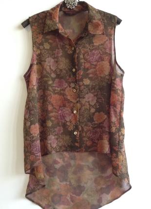 Блуза в коричневых тонах