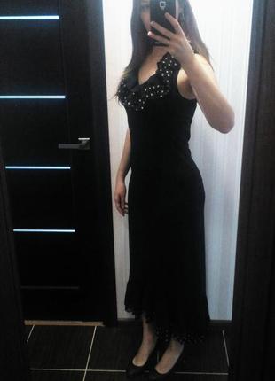 Нарядное красивое платье в пол для вечера на выпускной