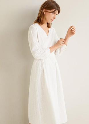 Mango платье с вышивкой , м, l