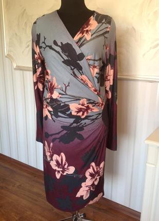Стильное платье из трикотажной вискозы, размер xl, наш 50-52.