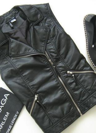 Кожаный жилет-косуха жилетка под кожу эко кожа