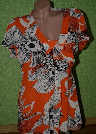 Легкая , невесомая , яркая блузочка в цветочный принт