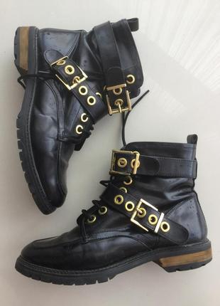 Крутые ботинки asos кожа р 40