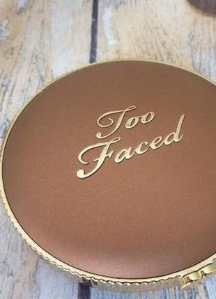 Матовый бронзер too faced milk chocolate soleil bronzer