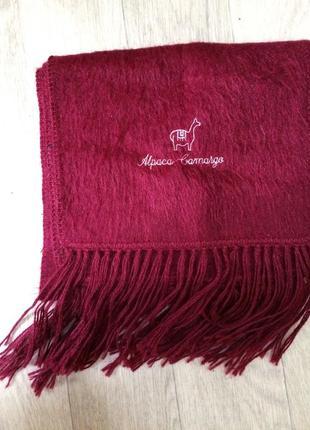 Теплый шерстяной шарф шерсть альпаки alpaca camargo