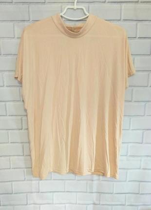 Классная пудровая блуза , с вырезом на спине vero moda