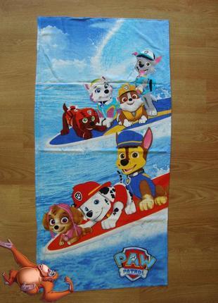 Пляжное полотенце щенячий патруль