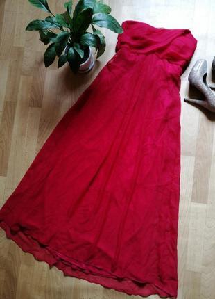 Красное платье в пол ,р 44