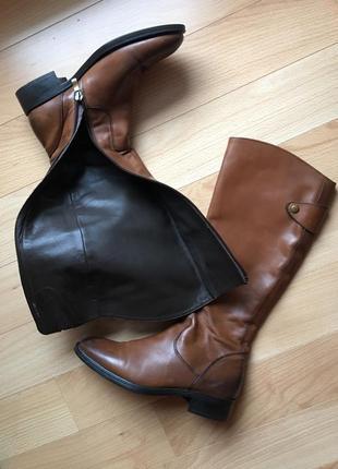 Сапоги высокие кожаные демисезонные karida fratelli р-р 37